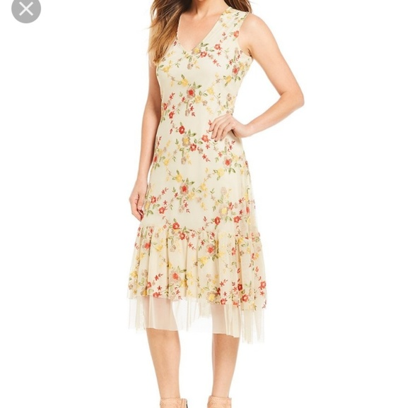 sale great prices the best Embroidered Reba Midi length dress